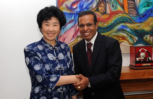 胡锦涛主席特别代表王志珍会见东帝汶新任总统鲁阿克