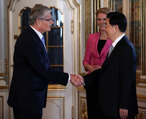 胡锦涛会见丹麦议长